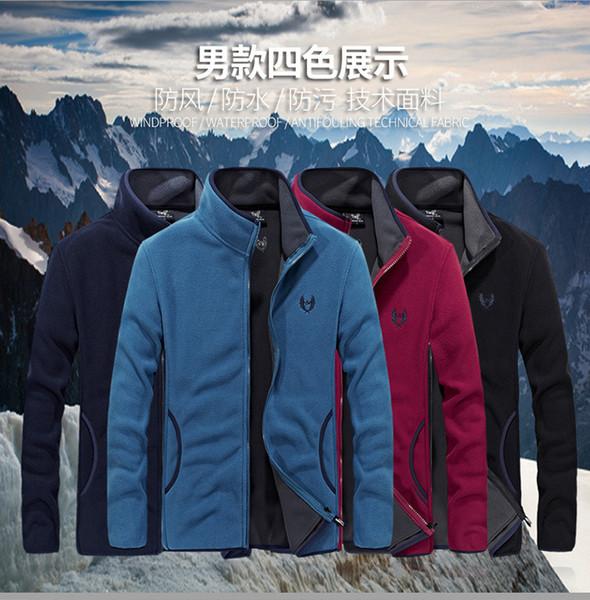 MANLI 2019 New Unisex Outdoor Soft Shell Fleece Jacket Men Army Polartec Sportswear Thermal Hunt Hiking Sport Hoodie Jackets