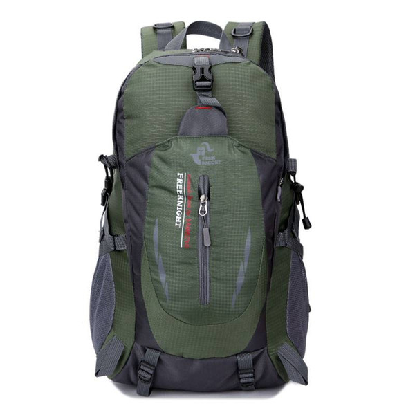 Knight 8607 35L Outdoor Bag Sports Travel Water Repellent Nylon Backpack Hiking Camping Rucksack Army Green