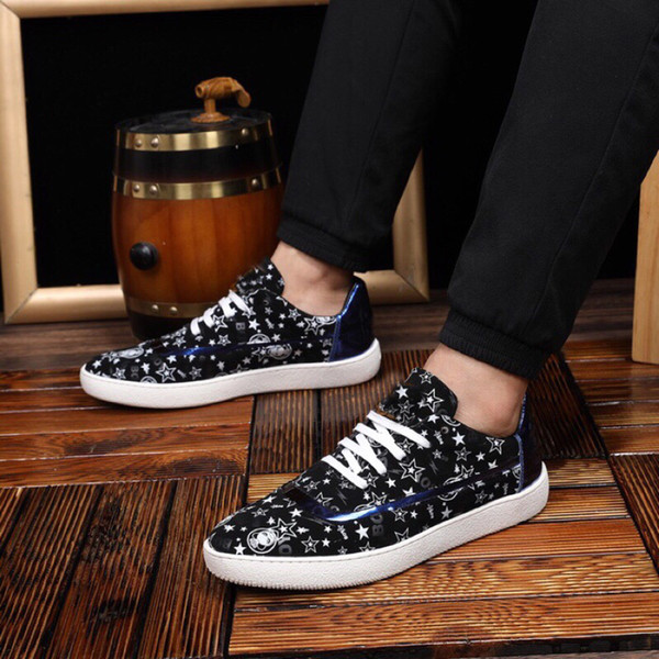 2019 Loafers Shoes For Mens Design Fur Leather Fashion Party Lowtop Dress Flat Sports Shoes Size 38-44