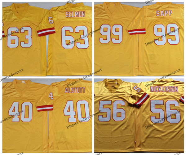 the best attitude e753a 5a954 2019 Vintage Tampa Bay Sapp Buccaneers 63 Lee Roy Selmon 40 Mike Alstott 99  Warren Sapp 56 Hardy Nickerson Stitched Football Jerseys From ...