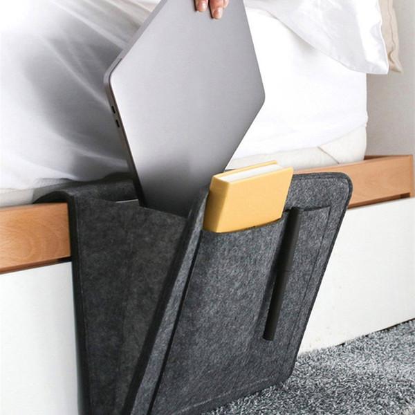 Многофункциональный Войлок Прикроватная сумка для хранения Войлок хранения висит сумка Room Проявите