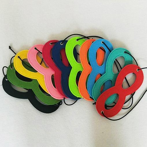 15 colori Feltro Halloween Mezza maschera Maschera Decorazioni per feste Maschere per mascherate Articoli per bricolage Supplementi per feste Decorazioni per eventi natalizi