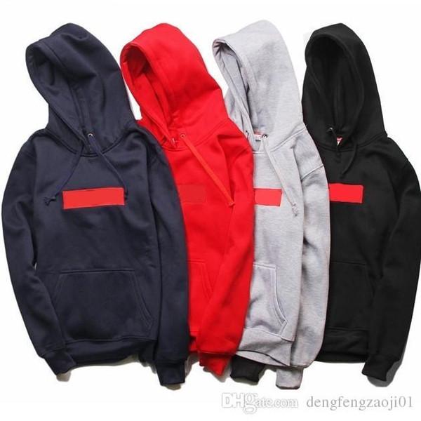 Yeni sıcak suprême hoodie en kaliteli klasik işlemeli Kırmızı kutu logo Mark kapşonlu uzun kollu moda marka kazak erkek tpos hoodie giyim