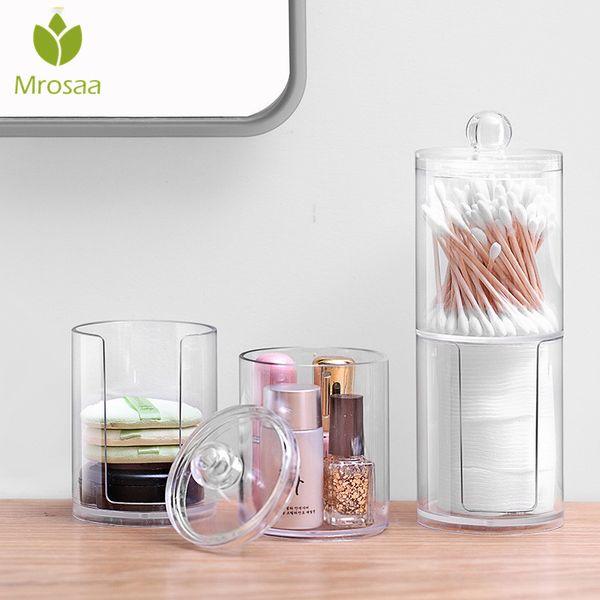 Acrylic Cotton Swab Makeup Organizer Storage Box Cosmetic Makeup Cotton Pad Organizer Jewelry Storage Box Holder and Candy Jars