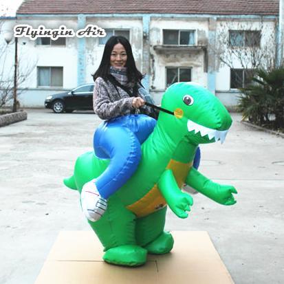 Partito Gioco da Esterni Giocattoli divertente camminare gonfiabile Esecuzione Dinosaur Costume 1m adulti indossabili Blow up di dinosauro Suits mascotte per eventi