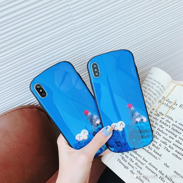 828d91038eab7b Blue Sesame Street phone cover Case for iPhone 7 8plus Xs max XR X back  cover