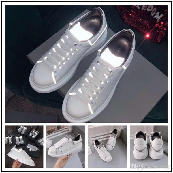 2020 senhoras De Luxo meninas calçados casuais Flat designer de tênis mulheres preto verde amarelo Sapatos de Moda Sapatos de Couro 35-45