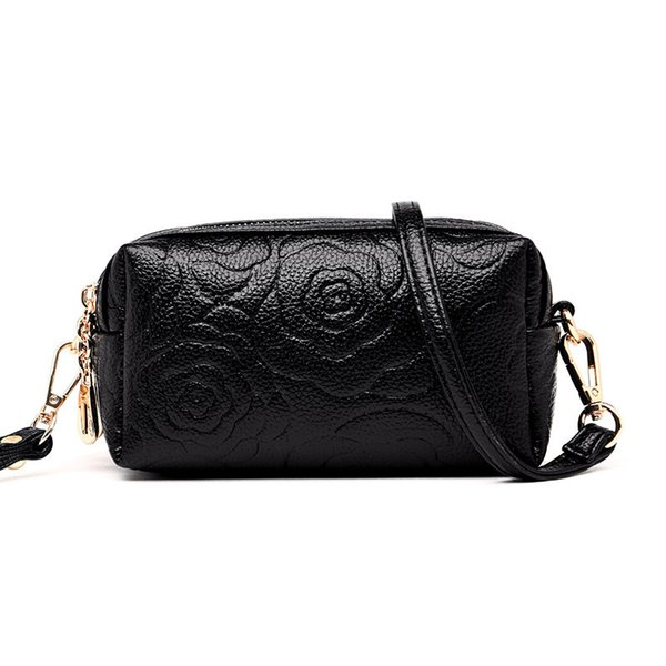 Lucky2019 Lucky2019 Bag Woman Pattern Women's Hand Take Concise Single Double Shoulder Zipper Small Change Package