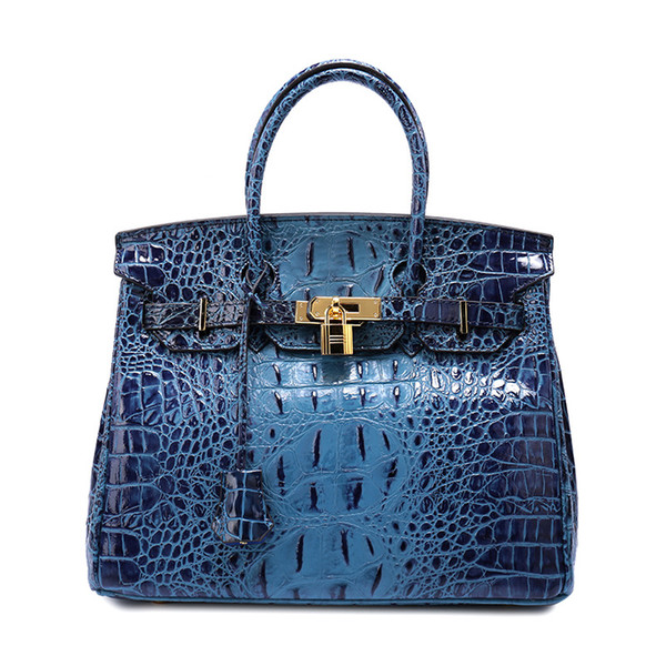 2019 new European brand high quality genuine leather female bag crocodile tattoo lady handbags free shiping DHL