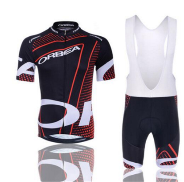 2017 orbea radfahren clothing bike jersey ropa ciclismo herren fahrrad sommer shirts set radfahren trikots 9d pad bike shorts rot