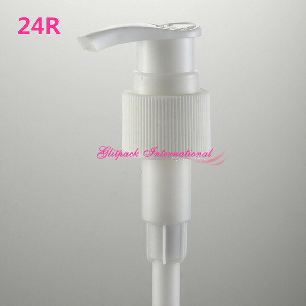 top popular R24 24mm natural white black lotion pumps for plastic cosmetic bottle closure cap shampoos conditioners dispensing pump 2021