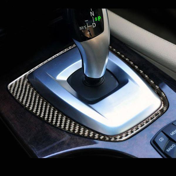 Carbon Fiber Inner Gear Shift Box Panel Frame Stickers Gear Knob Cover Trim Decoration sticker for BMW 5 series E60 F10 G30 Accessories