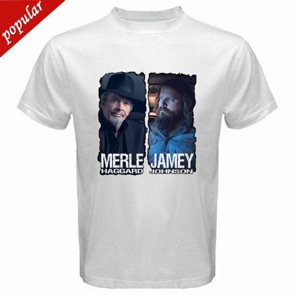 Ücretsiz kargo 2018 Yeni Merle ard Jamey Johnson erkek Beyaz T-Shirt Sml XL 2XL 3XL Yüksek Kalite En Tees