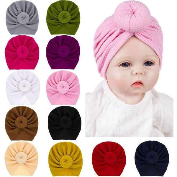 Kids Girls Baby Toddler Turban Knotted Bow Hat Cap Headband Hair Band Headwear