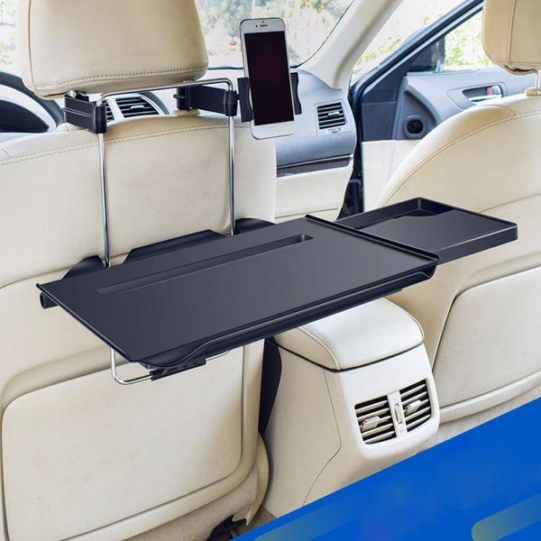 Multifunktionale Autositz zurück PC Berg Tray Schwarz Tisch Laptop Notebook Schreibtisch Tisch Essen und Trinken Getränke Schreibtisch-Becherhalter