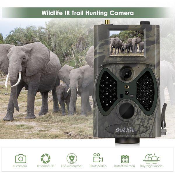 HC 300M Digital Trail Camera 12 MP 1080P Infra LEDs 940nm Night Vision  Hunting Surveillant Camera Trap Wildlife Game Cameras Infrared Trail Camera