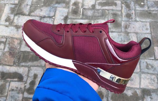 Hot Luxury Beliebte Leder Freizeitschuhe Frauen Männer Designer Turnschuhe Schuhe Mode Leder Schnürschuh Gemischte Farbe