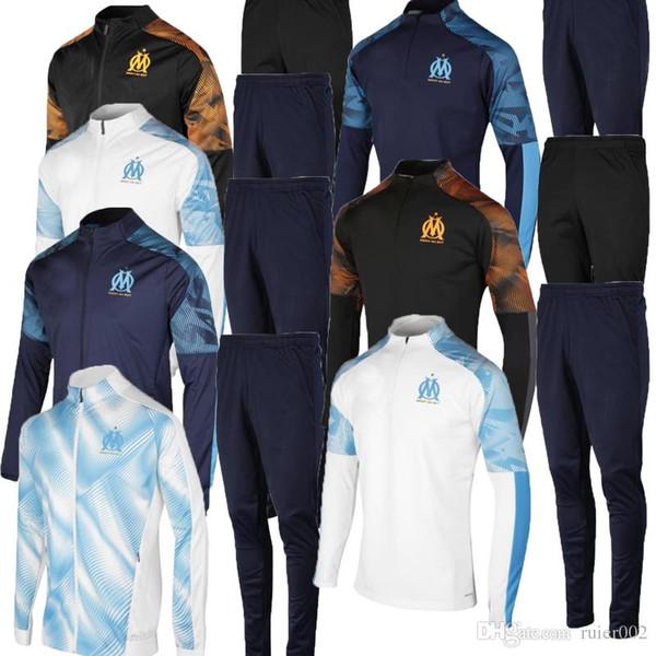 Yeni 2019 2020 Fato de treino futebol para treino Olimpik Marsilya Maillot De Ayak para treino casaco futebol de TAAETVON OM