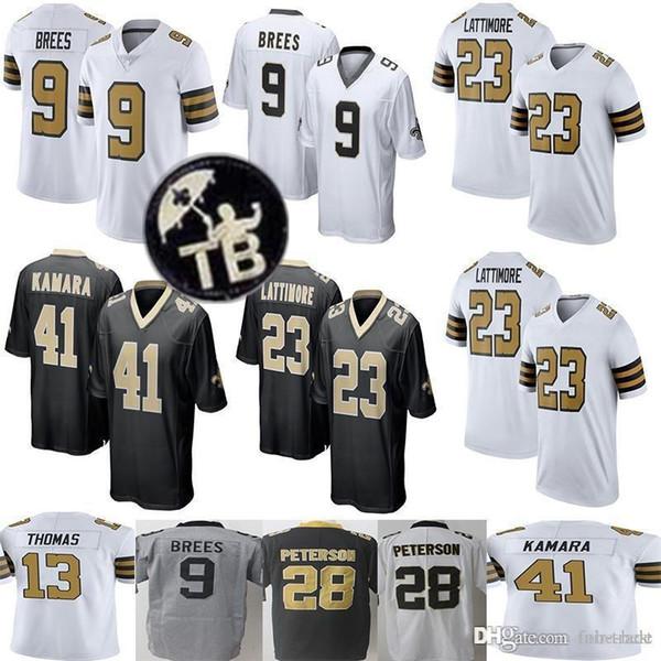 7 Taysom Hill New Orleans Saints 9 Drew Brees Jersey 41 Alvin Kamara 13  Michael Thomas 23 Marshon Lattimore 28 Adrian Peterson 88 Dez Bryant 6e0b23e36
