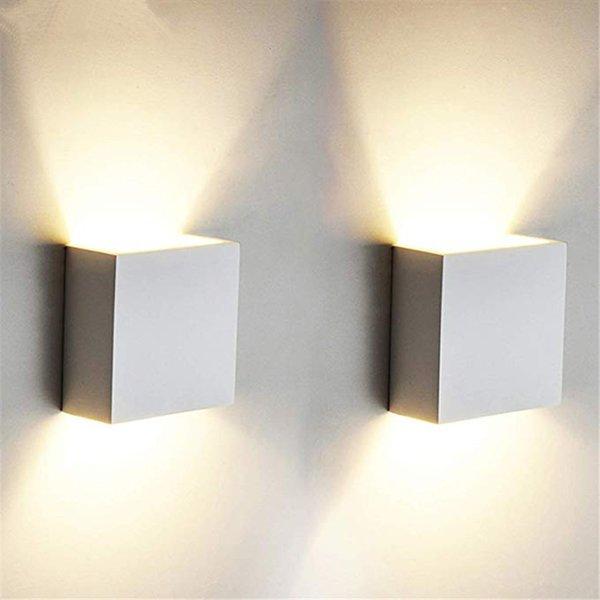 Acheter Cube Cob Led Eclairage Interieur Mur Lampe Moderne A La Maison Decoration Decoration Applique En Aluminium Lampe 6w 85 265 V Pour Bain