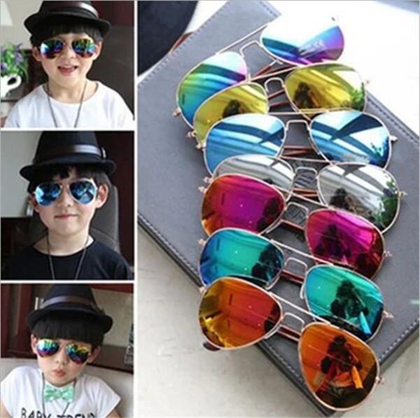 8 colori design bambini ragazze ragazzi occhiali da sole per bambini spiaggia forniture occhiali protettivi uv moda per bambini parasole occhiali FJ252
