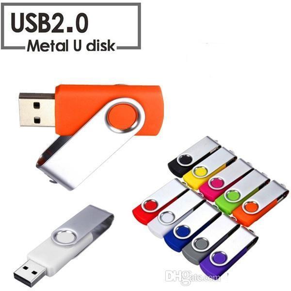 Wholesales Real Capacity Swivel 16GB-128GB USB 2.0 Flash Memory Stick Pen Drive Storage Thumb U Disk