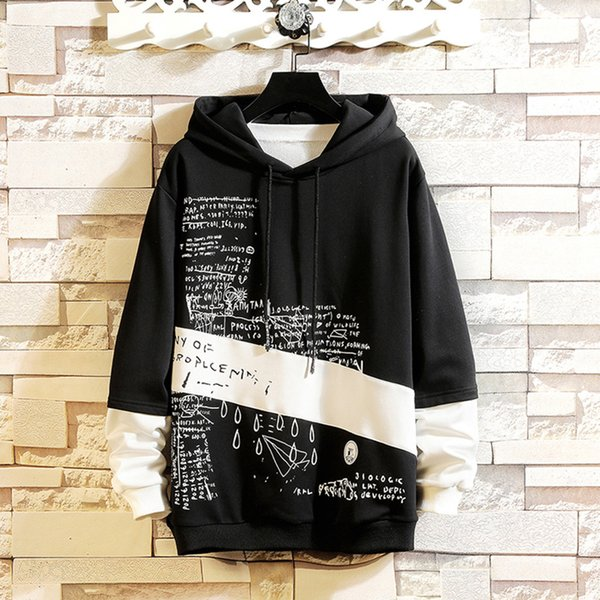 Feitong Hoodies Men Sweatshirts Clothing Harajuku Hoodie Men Printed Male Sweatshirts Tracksuit Mens Hip Hop Streetwear Hoody