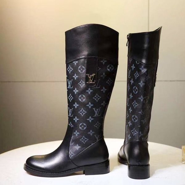 Fashion Women Boots Shoes Knee High Plus Size Bottes Femmes Chaussures de femme High Top Womens Shoes Fashion Zipper W23 Work Knee Boots