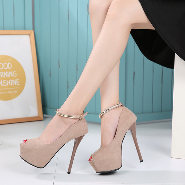 Fascinating2019 Shallow Seasonal Mouth Low Help Single 14cm Super High Shoe 16 A Centimeter Fine With Stage Women's Shoes