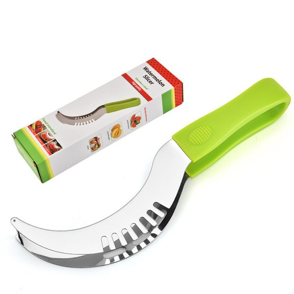 Wholesale High-quality Watermelon Slicer Stainless Steel Fruit Peeler Useful & Smart Kitchen Gadget Gift Box DHL Free Shipping RY-WS001