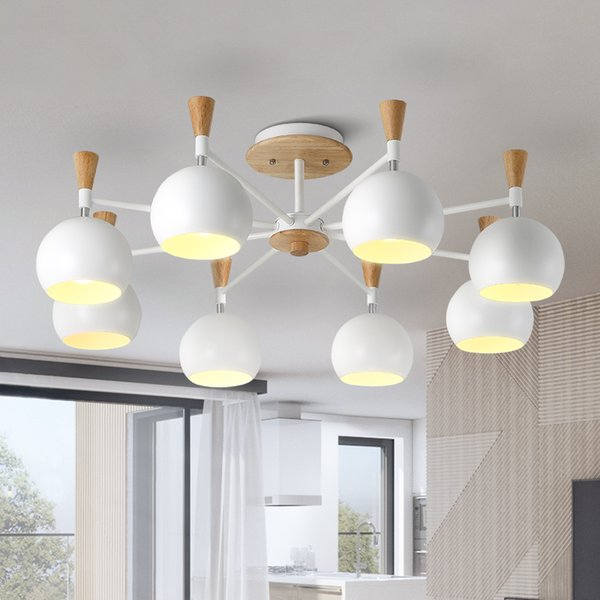 Großhandel Moderne LED Macaron Holz Kronleuchter Loft Leuchten Nordic  Hängeleuchten Schlafzimmer Beleuchtung Wohnzimmer Hängelampen Von Jess567,  ...