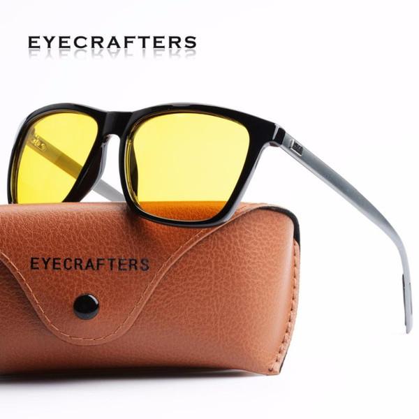 Eyecrafter New Vision nocturne Lunettes de soleil Hommes Marque Designer Mode polarisants Conduite de nuit améliorée Lumière à jour de pluie nuageux Brouillard
