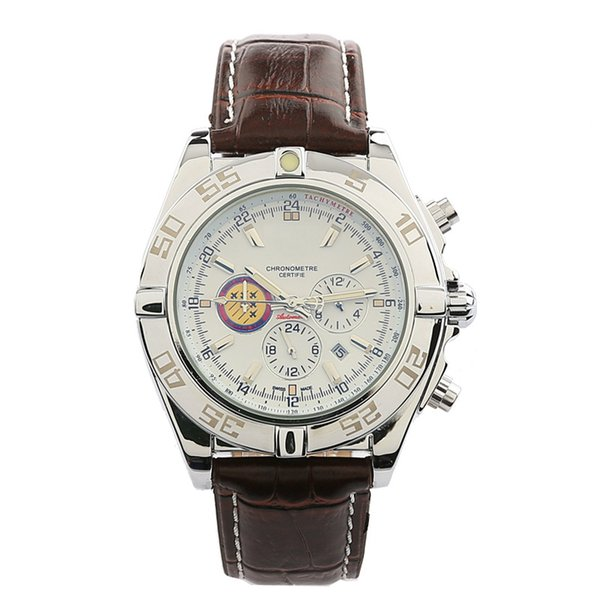 Brietling mens watches automatic watch famous brand fashion calendar 43mm face waterproof mechanical watch free shipping