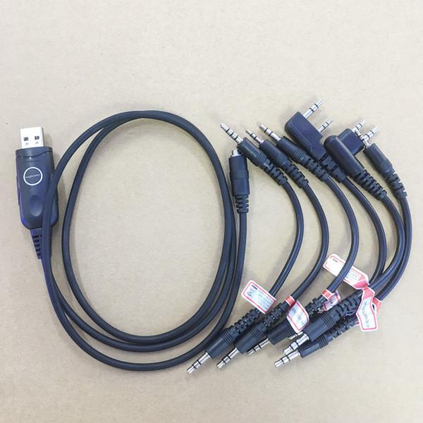 Mag one a8 honghuismart 6 em 1 cabo de programação USB para kenwood, baofeng, motorola, yaesu, hytera, mag um a8, para icom etc walkie talkie