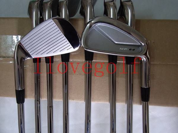 Golf Clubs 8PCS MP 64 Golf Clubs Irons Sets MP-64 Clubs Golf 3-9P Regular/Stiff Steel/Graphite Shafts With Headcovers DHL Free Shipping
