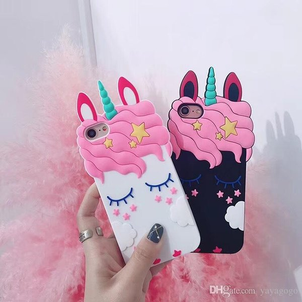 Happy Shell Lovely eyelash horse Back Case For iPhone XS Max XS XR X 8 7 6 6S 5 Plus Soft Silica Unicorn Cover Case with Card Pocket
