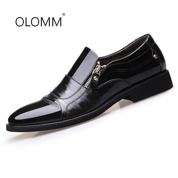 New Mens Business Pointed Head Dress Men's Shoes Large Size Men Dress Shoes Leather Man Zapatos De Hombre