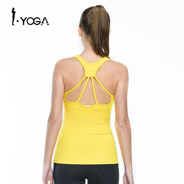 Women Fitness Tights Yoga Vest Gym Sports Sleeveless Shirts Compression Female T-shirt Nylon Sexy Sportswear Tank Top B006 #20735