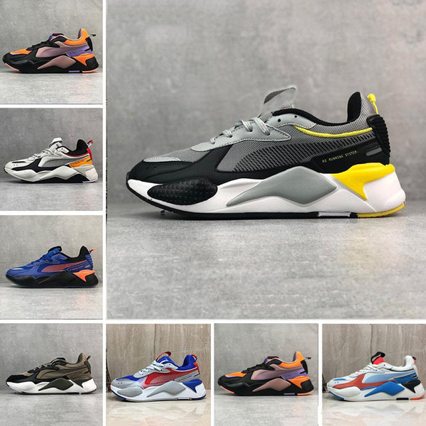Men & Women RS-X Reinvention Running System Shoes Cool Black White Fashion Creepers Dad Running Trainer Sports Sneakers