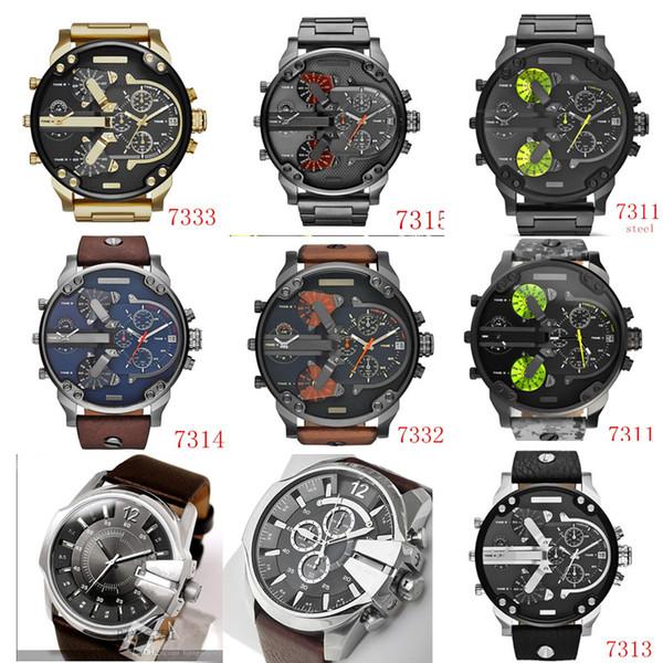 Automatisches Datum Big Bang Uhr Männer Militäruhren Lederarmbanduhren Uhr Relogio Super Männer Sport Diesel Uhren Montre Homme