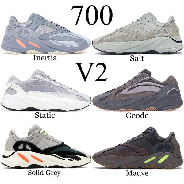 Großhandel Adidas Yeezy Boost Geode 700 Inertia Wave Runner Laufschuhe Herren Damen Mauve Static Salt Geode Triple Schwarz Weiß Kanye West V2 Designer
