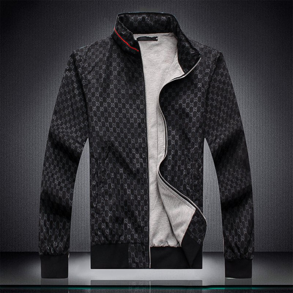 Heißer verkauf neue freizeit sport doppel farbnähte stehkragen herren designer trainingsanzüge multi - size länge hülse männer trainingsanzug