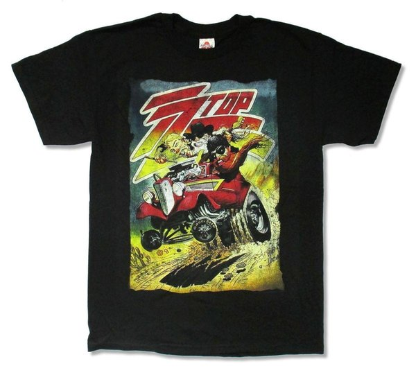"""ZZ TOP """"VINTAGE POSTER TOUR 2014"""" BLACK BAND T-SHIRT NEW OFFICIAL ADULT"""