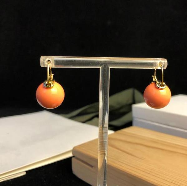Famoso designer europeu brincos de jóias Design Único Brinco de ouro Pérola com caixa original Brincos de Noivado para as mulheres