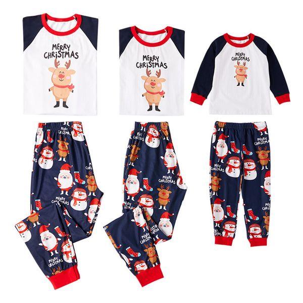 Family Christmas Pajamas 2019.Family Christmas Pajamas 2019 Family Matching Outfits Mother Father Kids Clothes Sets Cartoon Christmas Pig Printed Pajamas Sleepwear Nighty Father