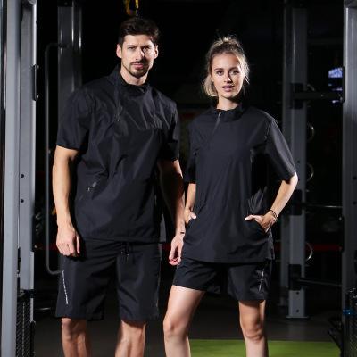 Взрывоопасный тренировочный костюм для женщин Спортивный фитнес-йога с короткими рукавами Потеть Потеря веса Одежда Бег Большой размер мужские спортивные костюмы