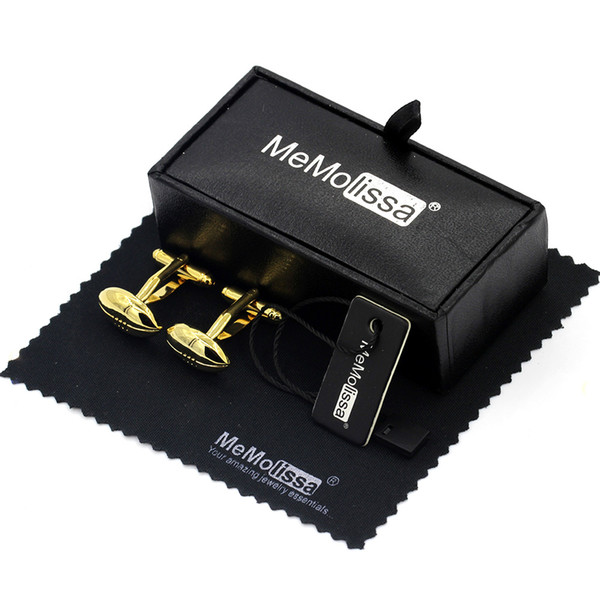 Box Cufflinks Set Free Shipping Sporty Style Golden Rugby Cufflinks Exquisite Gift for Sports Fans Gemelos Free Tag & Wipe Cloth
