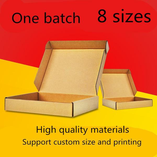 8 Size Aircraft Box Spot Express Packaging Brown Kraft Cardboard Boxes Carton Corrugated Paper Carton Can Be Customized Printing