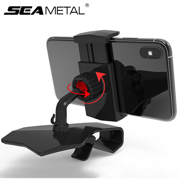 Car Gadget Car Phone Holder  Rotation Dashboard Clips GPS Navigation Stand Auto Smart Phone Holder Air Out Vent Mount