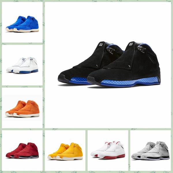 Nike Air Jordan Original AJ AJ18 18 18s Hommes Chaussures de plein air Toro OG ASG Elevé Cool Grey Sport Royal Suede Bleu Jaune Orange Baskets Designer Sport Sneakers 40-47